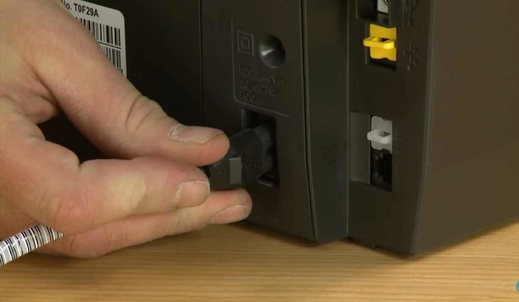 connect your HP printer with the power outlet